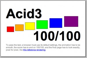Risultato Acid3 test su Internet Explorer 10