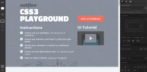 Webflow CSS playground