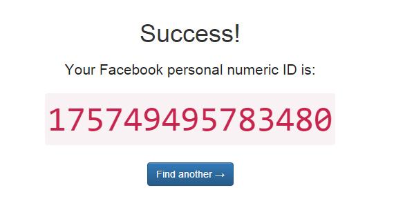 """Cliccando su """"lookup numeric id"""" otterrò l'id"""